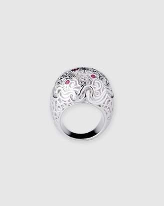 Chunky Natural Ruby Domed Gypsy Ring