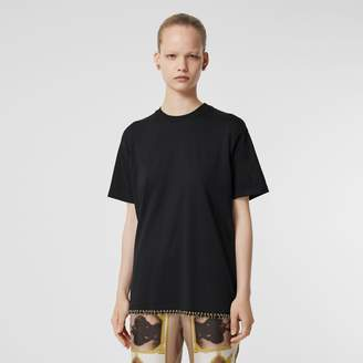 Burberry Ring-pierced Cotton Oversized T-shirt