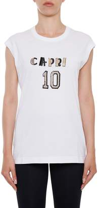 Dolce & Gabbana Sleeveless T-shirt With Patch