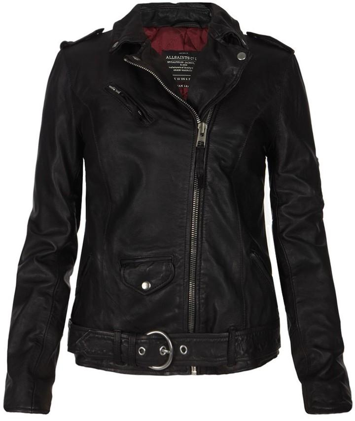 AllSaints Valley Leather Biker Jacket