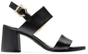 Cole Haan Women's Premium Avani City Leather Sandals - Black - Size 10