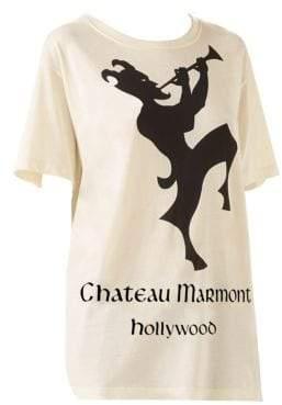 Gucci Short Sleeve Chateau Marmont Logo T-Shirt