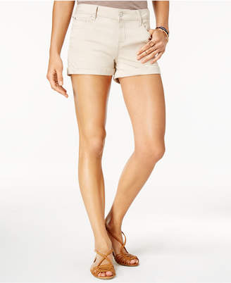 """Celebrity Pink Juniors' 3"""" Cuffed Colored Shorts"""