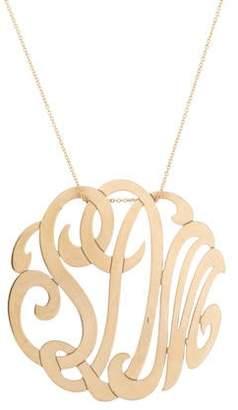 ginette_ny 14K 'SDM' Lace Monogram Necklace