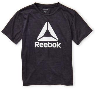 Reebok Boys 8-20) Darkest Heather Logo Short Sleeve Tee