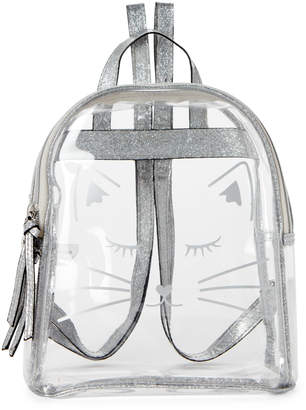 T-Shirt & Jeans T Shirt & Jeans Clear PVC Cat Backpack