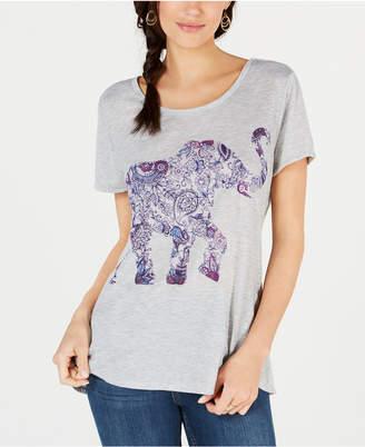Style&Co. Style & Co Elephant-Print T-Shirt