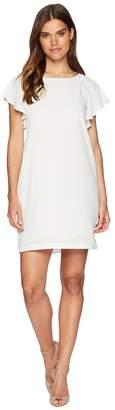 Catherine Malandrino Daiva Scoop Neck Ruffle Short Sleeve A-Line Dress Women's Dress
