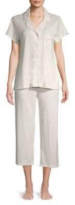 Miss Elaine Floral Printed Two-Piece Pajama Set