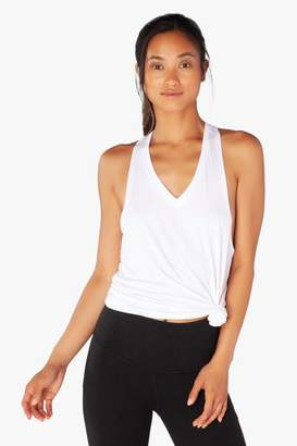 Beyond Yoga White Twisted Racerback Tank - S - White