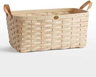 Rejuvenation Large Ash Wood & Leather Nesting Basket