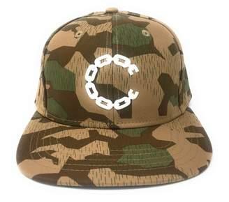 Crooks & Castles Men's 3D Rubber Beveled Chain C Snapback Hat O/S