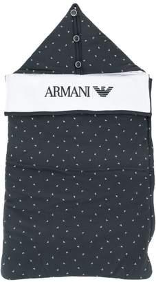 Emporio Armani Kids logo print sleep bag