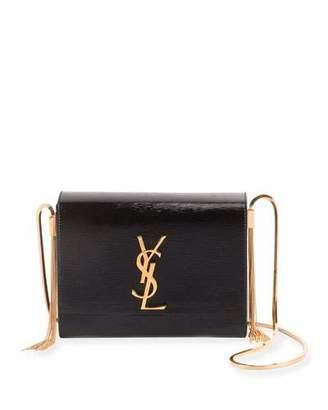 Saint Laurent Kate Boxy Flap Tassel Shoulder Bag