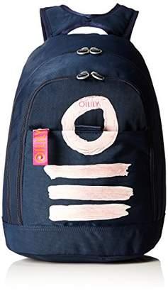 Oilily Fun Nylon Backpack Lvz, Women's Backpack, Blau (Dark Blue), 21x45x30 cm (B x H T)