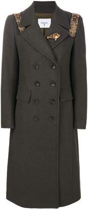 Dondup embellished double breasted coat