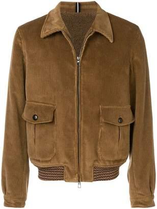 Lardini corduroy bomber jacket
