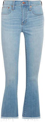 Madewell Cali Cropped High-rise Bootcut Jeans - Blue