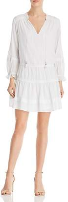 Paige Jaslene Tiered-Skirt Mini Dress