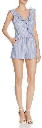 Aqua Ruffled Striped Romper - 100% Exclusive