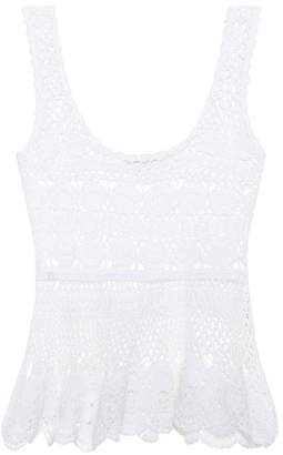 Anna Kosturova Marianne cotton crochet top