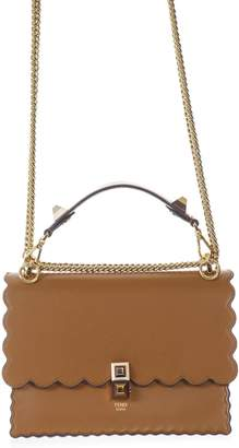 6c536143e2 at Italist · Fendi Kan I Medium Camel Leather Bag
