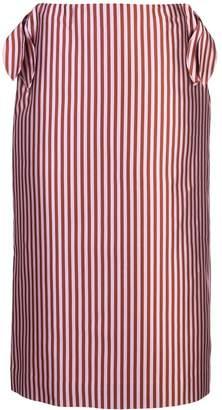 Jonathan Cohen vertical striped silk skirt