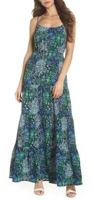 MICHAEL Michael Kors Paisley Remix Tiered Maxi Dress