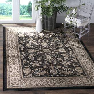 """Safavieh Lyndhurst Collection LNH340D Oriental Anthracite and Cream Area Rug (8'11"""" x 12')"""