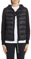 Moncler Quilted Down Front Hooded Cardigan