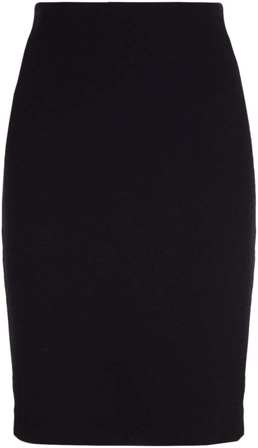 Armani Collezioni Wool Crepe Pencil Skirt, Navy, UK 18