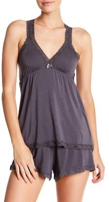 Barefoot Dreams Luxe Milk Jersey Lace Cami