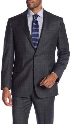 Brooks Brothers Grey Plaid Two Button Notch Lapel Classic Fit Suit Separates Jacket