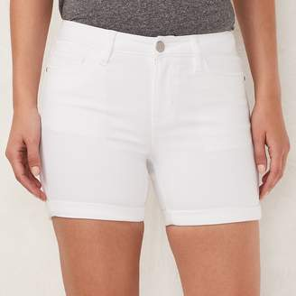 Lauren Conrad Women's Mid-Length Cuffed Jean Shorts