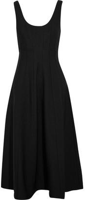 Tibi Stretch-knit Midi Dress - Black