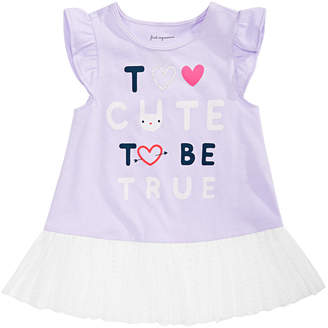 First Impressions Baby Girls Too Cute Graphic Peplum Top