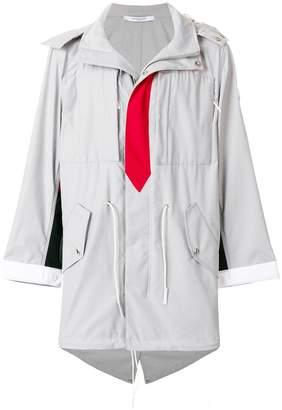Givenchy tie print parka coat