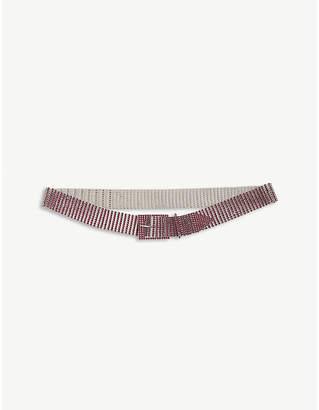 Farah BELOW THE BELT rhinestone-embellished metal belt