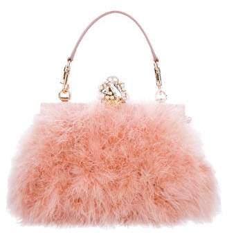 Dolce & Gabbana Crystal Embellished Feather Bag