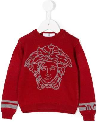 Versace intarsia-knit sweater