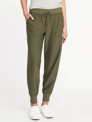 Old Navy Mid-Rise Knit-Waist Performance Pants for Women