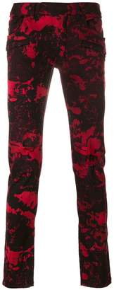 Balmain skinny printed jeans