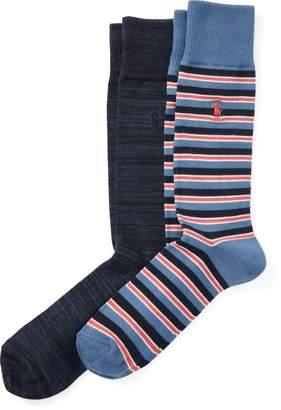 Ralph Lauren T-Shirt Stripe Sock 2-Pack