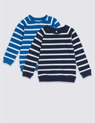 Marks and Spencer 2 Pack Striped Sweatshirts (3 Months - 7 Years)
