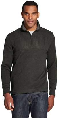 Van Heusen Men's Flex Colorblock Quarter-Zip Fleece Pullover