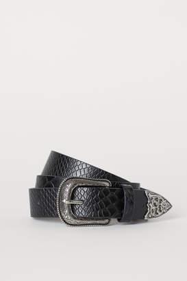 H&M Belt with Metal Buckle - Black