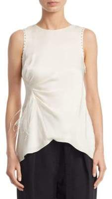 3.1 Phillip Lim Feather Silk Tank Top