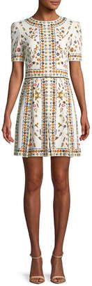 Alexander McQueen Floral Printed Mini Dress