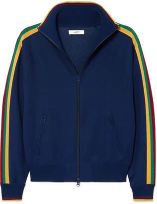 Etoile Isabel Marant Darcey Striped Jersey Track Jacket - Navy