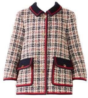 Gucci Tweed Pocket Front Swing Coat